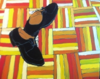 Painting Punky shoes NYC
