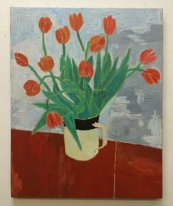 SOLD Tulips N°7, 60x77 cm.