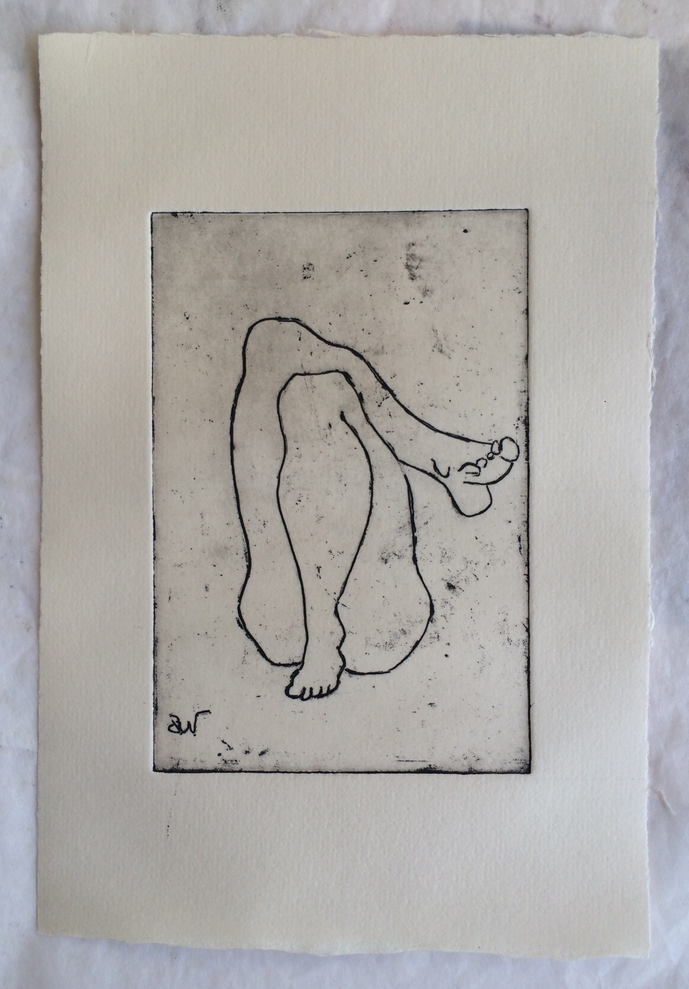 The etching is 10x15 cm, the paper is 16x24 cm.